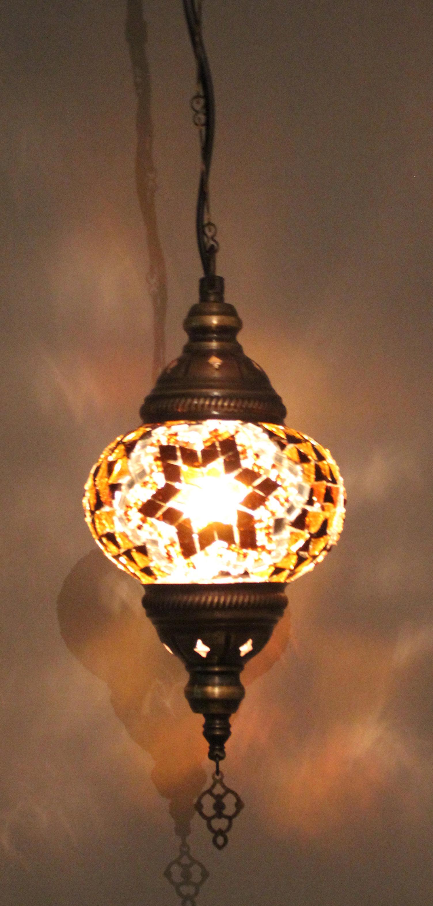Mosaic hanging lamp size 2